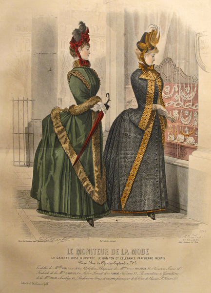 1885 Moniteur de la Mode, Parisian Ladies Fashion (Plate 50-1885)
