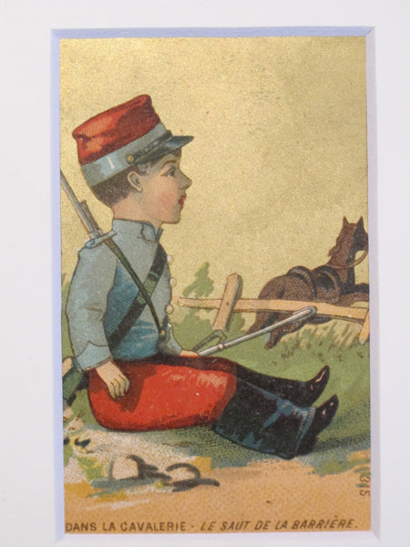 1900's Original French Confectionary Labels, Soldiers - Set of 2