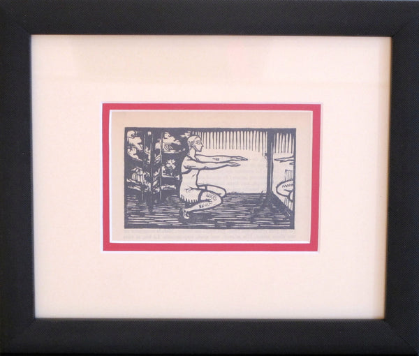 1930's Original French Woodblock Print, Exercise - Beloff