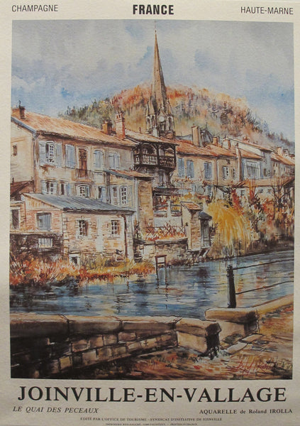1950s Original French Travel Poster, Joinville-en-Vallage