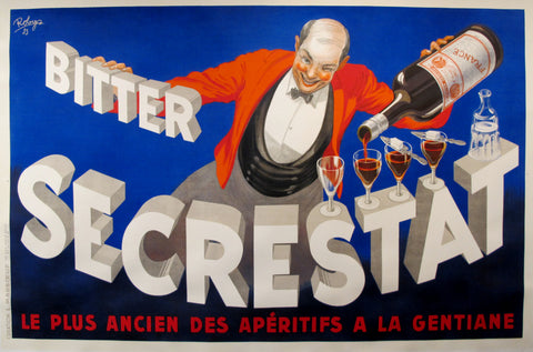 1935 Original Vintage French Poster - Bitter Secrestat