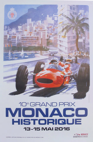 2016 Contemporary Poster, Monaco Historique Classic Grand Prix - 10e Grand Prix