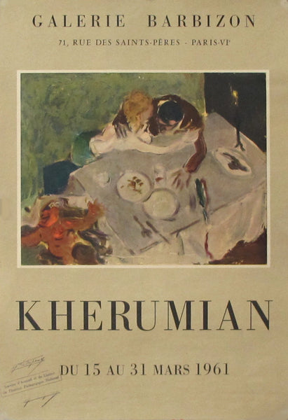 1961 Original Exhibition Poster - Kherumian, Galerie Barbizon