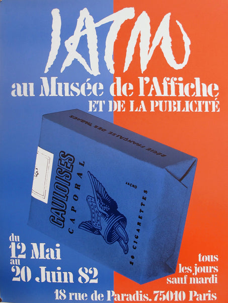 1982 French Art Deco Exhibition Poster, Gauloises Cigarettes