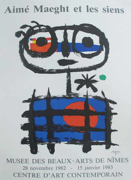 1982 French Miro Exhibition Poster, Aimé Maeght et Les Siens