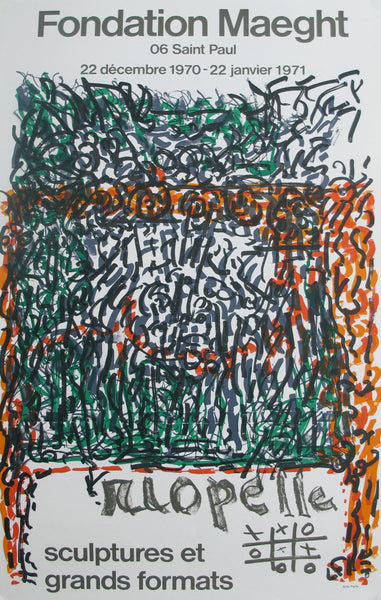 "1971 French Exhibition Poster, ""Sculptures et Grands Formats"" - Riopelle"