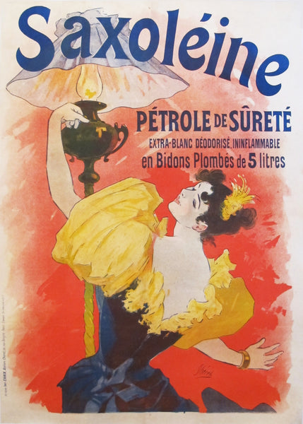 1893 Original French Belle Epoque Poster, Saxoleine