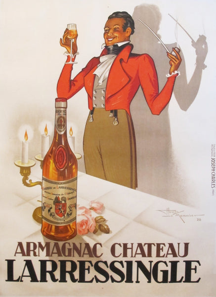 1938 Orignial Vintage French Art Deco Poster - Armagnac Château Larressingle