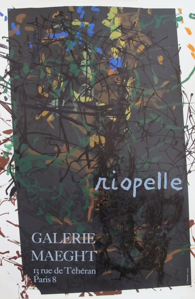 1970s French Exhibition Poster, Riopelle at Galerie Maeght
