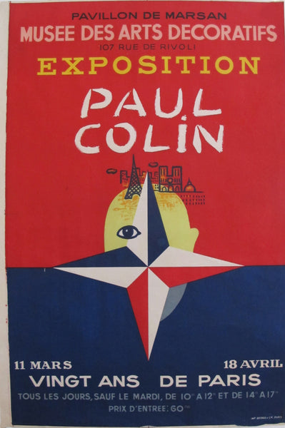 1949 Paul Colin Exhibition Poster, Pavillon de Marsan