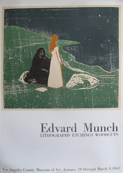 1969 Edward Munch Exhibition Poster, Los Angeles County Museum of Art