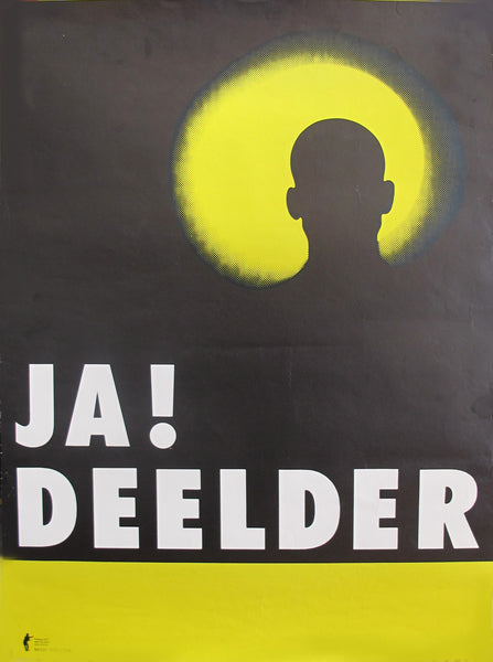 2000 Dutch Poster, Poet J.A. Deelder Performance Poster
