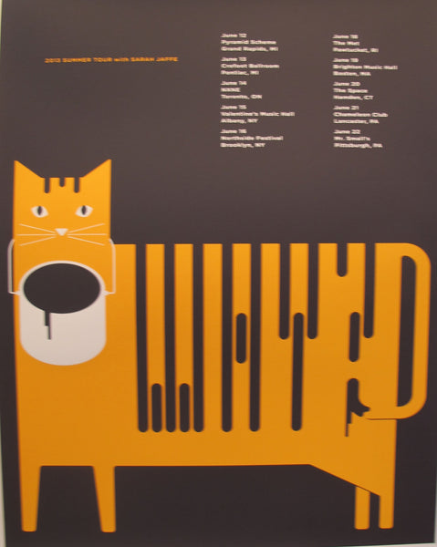 2013 American Concert Poster,  Summer Tour with Sarah Jaffe