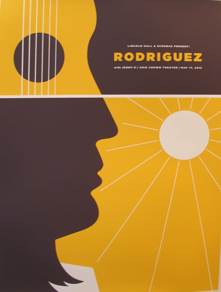 2013 American Concert Poster,  Rodriguez in Arie Crown Theater