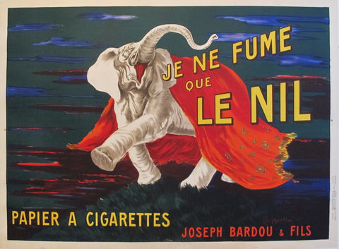 1912 Original French Cigarette Poster - Je Ne Fume Que Le Nil (Large version)