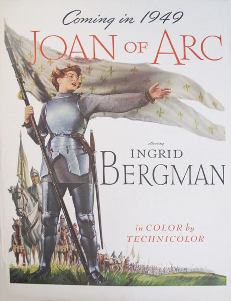 1948 American Movie Advertisement, Joan of Arc
