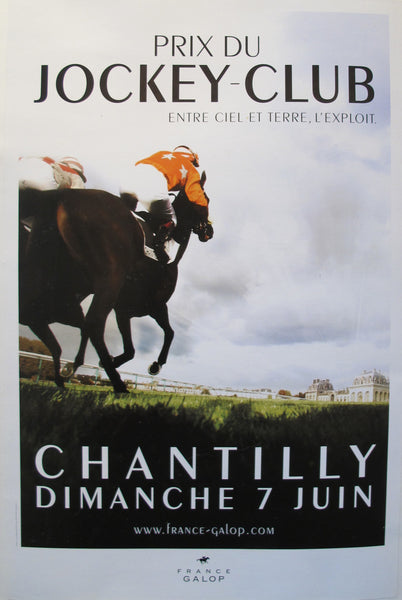 2009 French Horse Race Poster, Prix du Jockey-Club Chantilly
