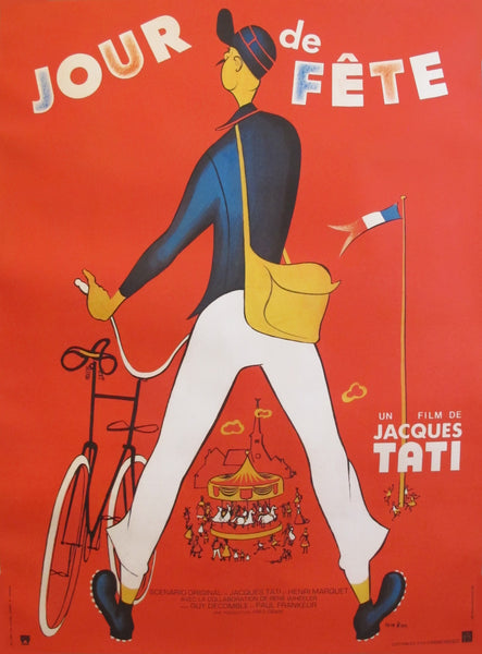 "1949 French Jacques Tati Movie Poster - ""Jour de Fête"""
