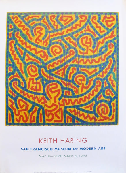 1998 Keith Haring Poster, San Francisco Museum of Modern Art