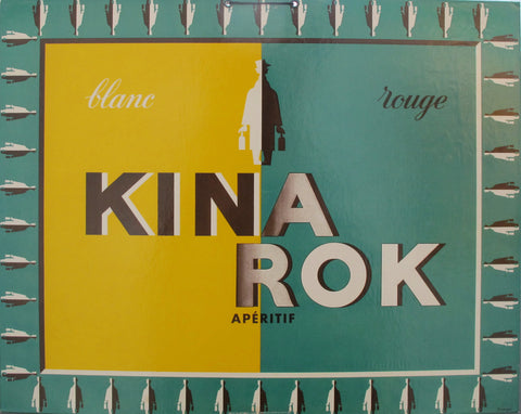 1930s French Art Deco Alcohol Carton, Kina Rok