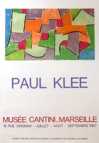 1967 Original Swiss Paul Klee Exhibition Poster, Musee Cantini