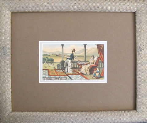 1900's Victorian Trade Cards - Dr. Kilmer's Female Remedy (Framed)