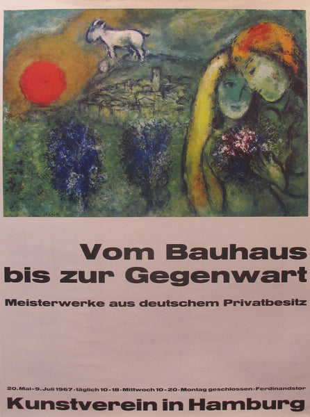 1967 Original Exhibition Poster, Kunstverein in Hamburg - Chagall