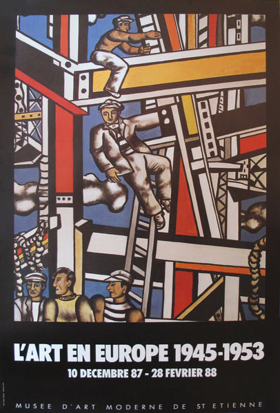 1987 French Exhibition Poster, L'Art En Europe 1945-1953
