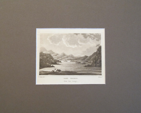 1820s Engraving of Lake George - Daniel Wadsworth