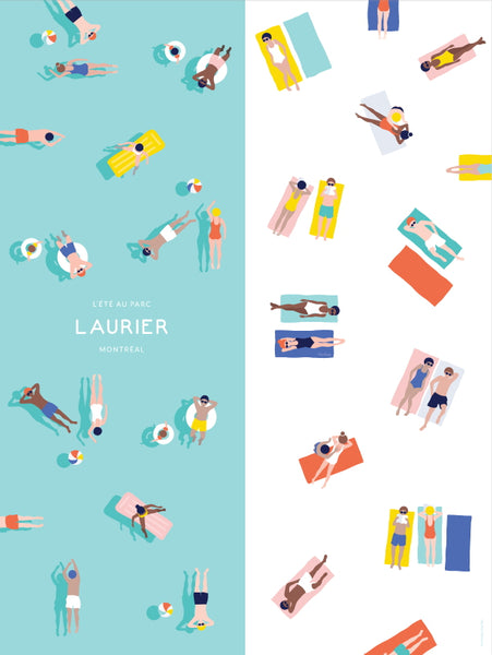 2016 Modern Montreal Travel Poster, Summer at Park Laurier