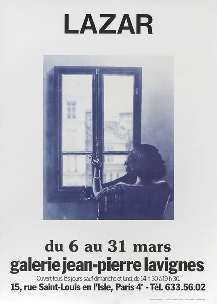 1979 Original French Exhibition Poster, Claude Lazar at the Galerie Jean-Pierre Lavignes