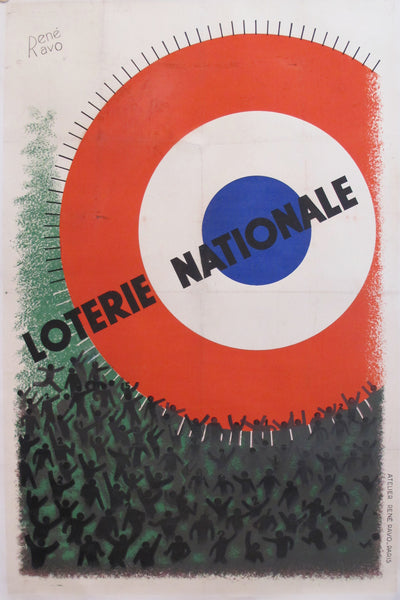 1935 French Loterie Nationale Poster 'Circles'
