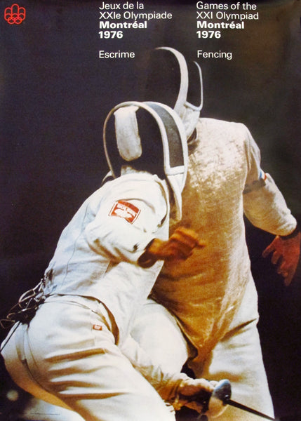1976 Montreal Olympics Poster, Fencing - COJO