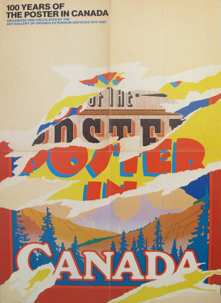 1979 Original Vintage Exhibition Poster, 100 years of the poster in Canada - Art Gallery of Ontario