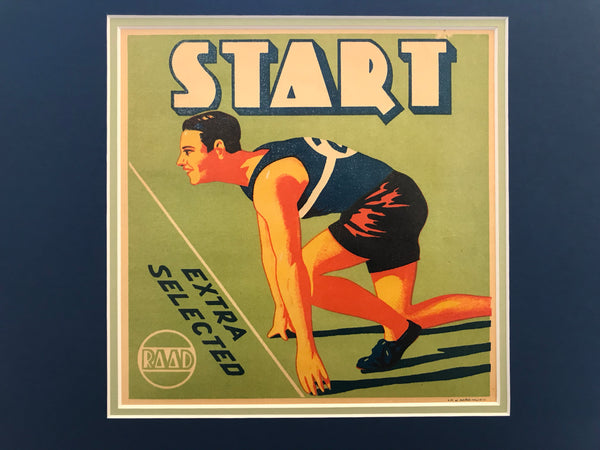 1930-40 Original Vintage Spanish Orange Advertisement, Start (Runner)