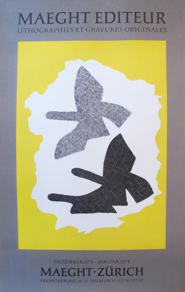 1973 French Georges Braque Exhibition Poster