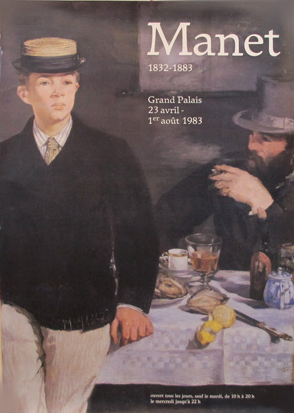 1983 Modern French Museum Exhibition Poster, Manet 1832-1883 Grand Palais