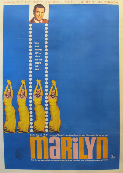 1963 Original American Marilyn Monroe Documentary Poster