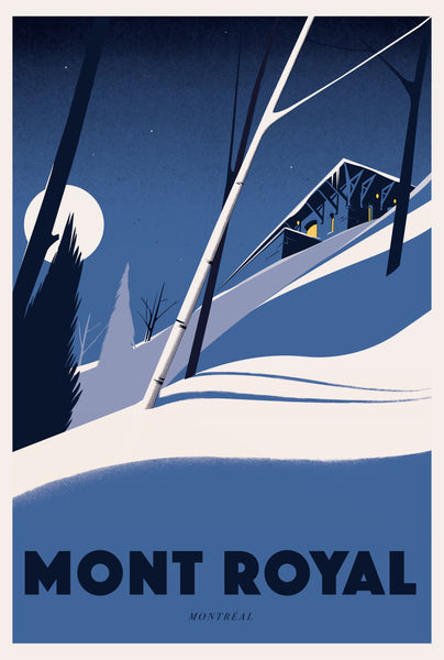 2019 Contemporary Travel Poster - Pascal Blanchet - Mont Royal
