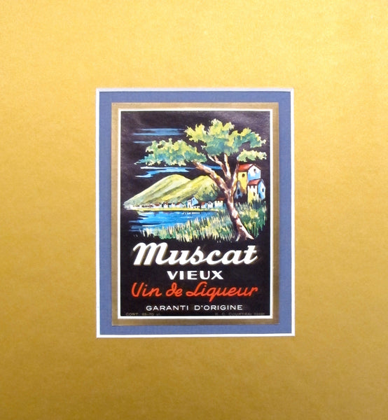 1930-40s Vintage Alcohol Label - Vieux Muscat