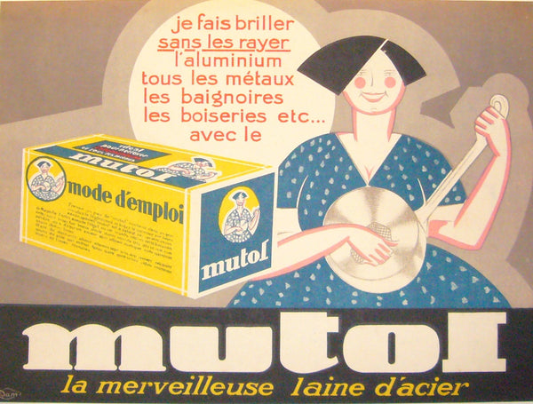 1940s French Poster, Mutol Polish - Anonymous