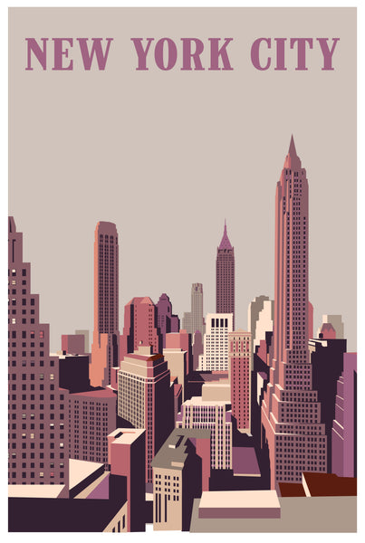 2019 Contemporary Travel Poster - Pascal Blanchet - New York City