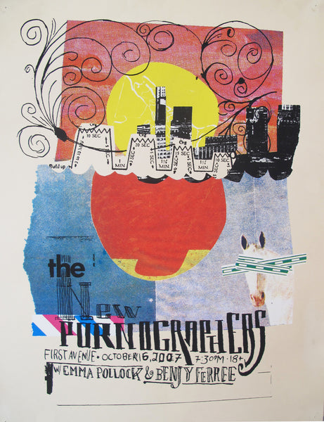 2007 The New Pornographers Live Concert Music Poster, Minneapolis - Aesthetic Apparatus