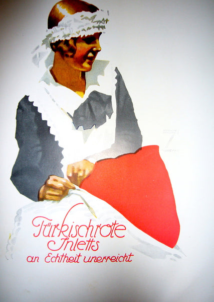 1926 Original German Art Deco Poster, Turkischrote Inletts - Hohlwein