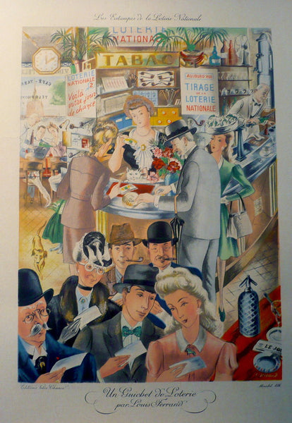 1930s Original French Loterie Nationale Poster - Ferrand