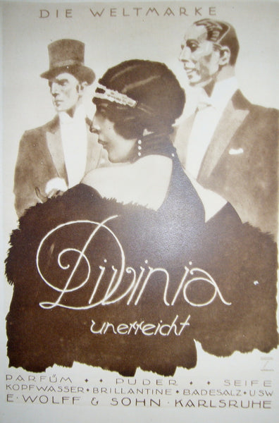 1926 Original German Poster, Divinia Beauty Products -  Hohlwein