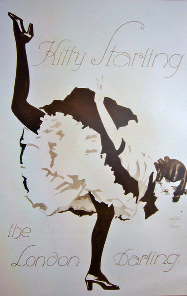 1926 Original German Art Deco Poster, Kitty Starling the London Darling - Hohlwein