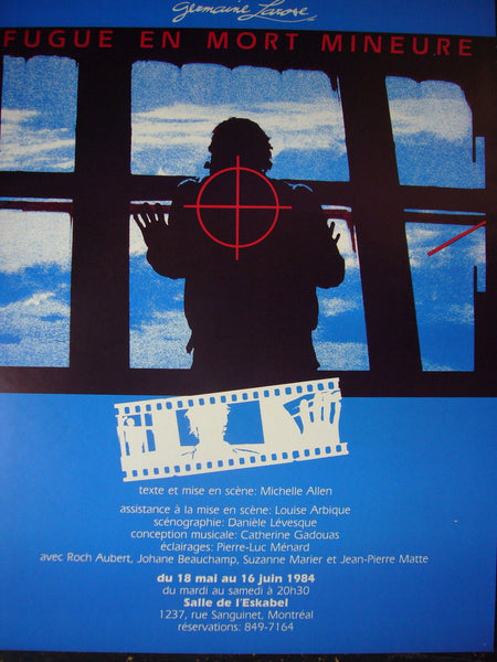 1980s Quebec Contemporary Poster, Fugue En Mort Mineur