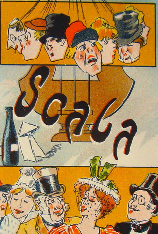 1897 French Art Nouveau Poster, Les Programmes Illustres, La Scala #6 - Misti