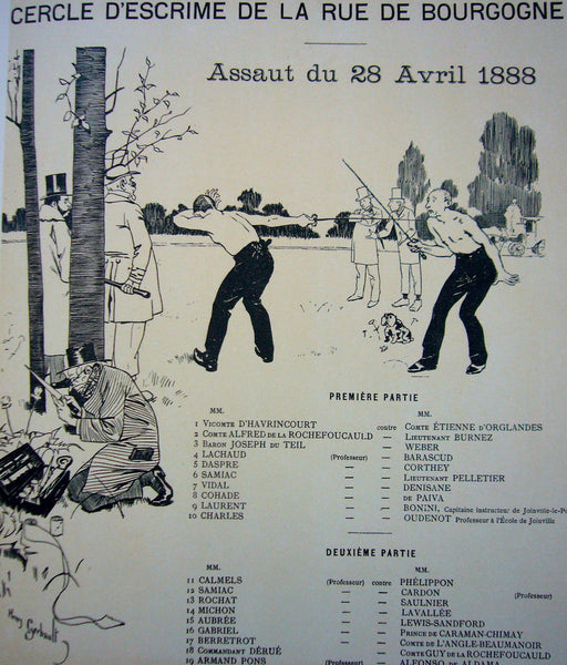 1897 Original French Art Nouveau Poster, Les Programmes Illustres, Fencing - Gerbault